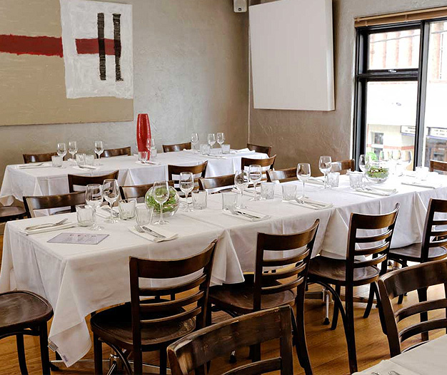 Luxury private dining rooms at deco cafe restaurant
