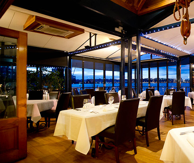 luxury private dining rooms at the boatshed restaurant. Black Bedroom Furniture Sets. Home Design Ideas